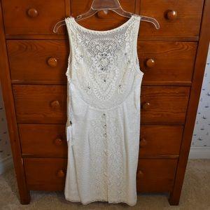 Sue Wong White Jeweled Dress